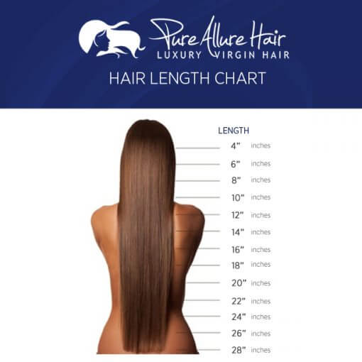 Tape In Hair Extension Length Chart