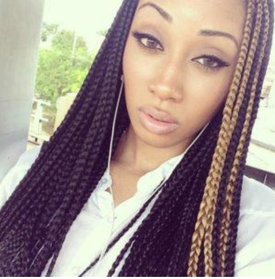 Model wearing Box Braids